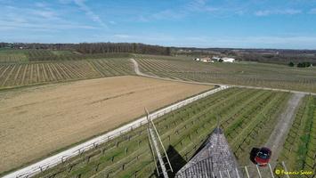 Photos prises par drone - Moulin à vent de Marquet du XVIII siècle (64)_GF