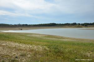 Lac de l'Escouroux en 2012 en période de sécheresse