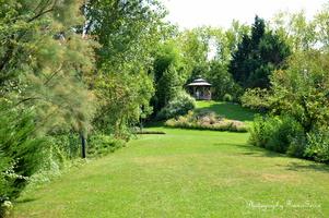 La gloriette, avec sa vue sur le jardin botanique..