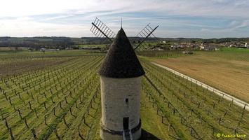 Photos prises par drone - Moulin à vent de Marquet du XVIII siècle (39)_GF