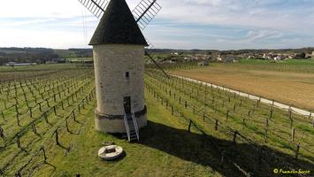 Photos prises par drone - Moulin à vent de Marquet du XVIII siècle (43)_GF