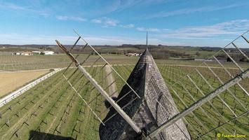 Photos prises par drone - Moulin à vent de Marquet du XVIII siècle (51)_GF