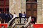 LE PRINCE ALBERT II DE MONACO À DURAS DANS LE CHÂTEAU DE SES AÏEUX